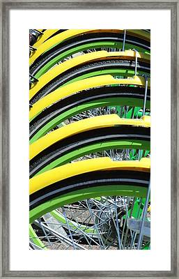 Yellow Bike Fenders Framed Print
