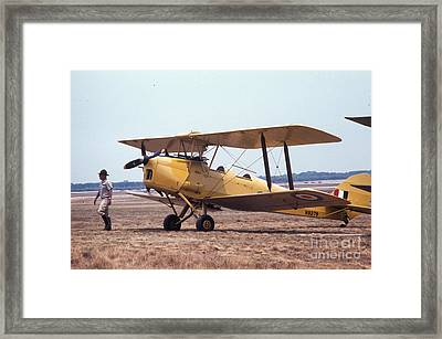 Framed Print featuring the photograph Yellow Bipe by Donald Paczynski