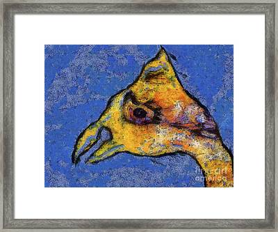Framed Print featuring the digital art Yellow Bird by Claire Bull