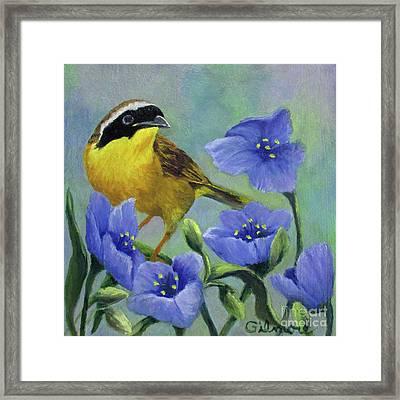 Yellow Bird Framed Print by Roseann Gilmore