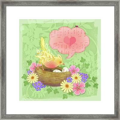 Yellow Bird's Love Song Framed Print