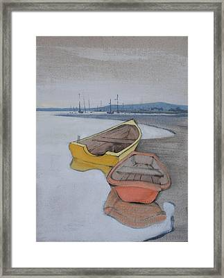 Yellow Boat 1 Framed Print by Amy Bernays