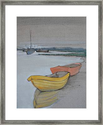 Yellow Boat 2 Framed Print by Amy Bernays