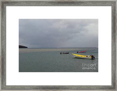 Framed Print featuring the photograph Yellow Boat by Gary Wonning