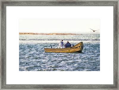 Yellow Boat - Framed Print