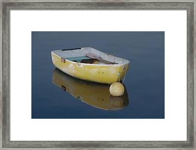 Yellow Rowboat Framed Print