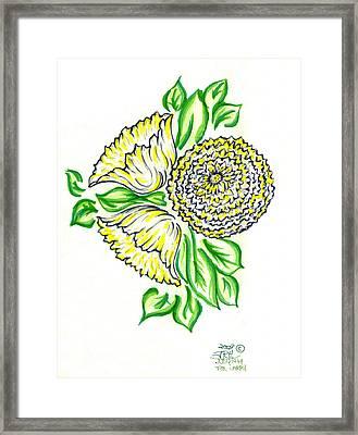 Yellow Bouquet Framed Print by Judith Herbert