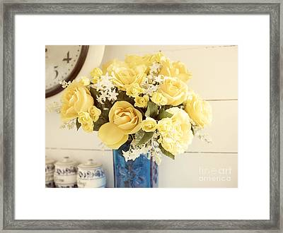 Yellow Bouquet Of Flowers Framed Print by Juli Scalzi