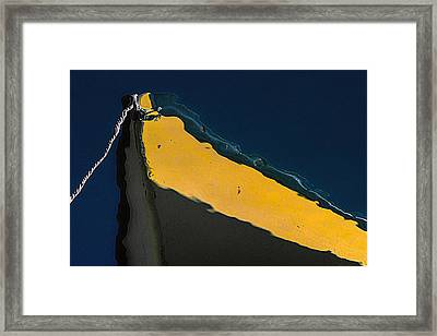 Yellow Bow Framed Print