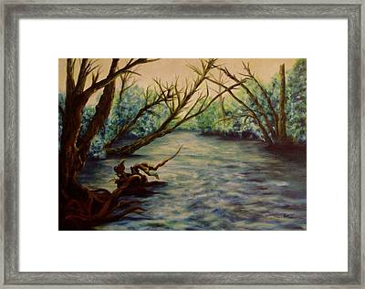Yellow Breeches Creek Pennsylvania Framed Print by Joann Renner