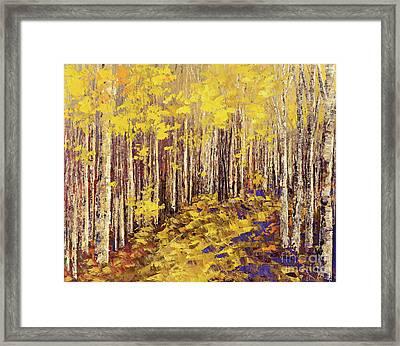 Yellow Brick Road Framed Print by Tatiana Iliina