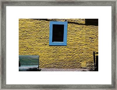 Framed Print featuring the photograph Yellow Brick Window by Wilko Van de Kamp