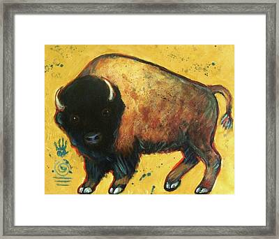 Yellow Buffalo Framed Print