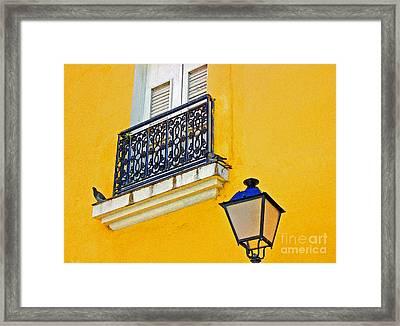 Yellow Building Framed Print by Debbi Granruth