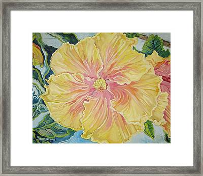 Yellow Burst Framed Print by John Keaton