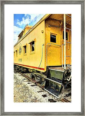 Yellow Caboose Framed Print