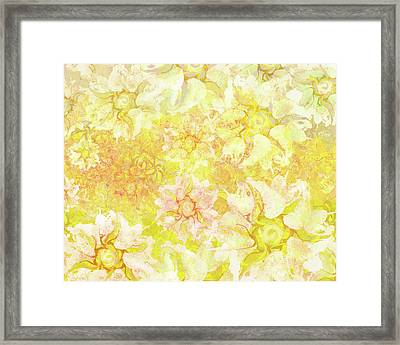 Yellow Camellia Hedges Framed Print