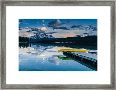 Yellow Canoe Framed Print