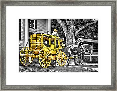 Yellow Carriage Framed Print