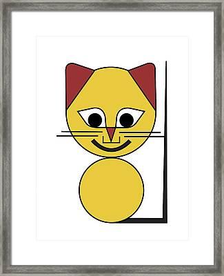 Yellow Cat Framed Print