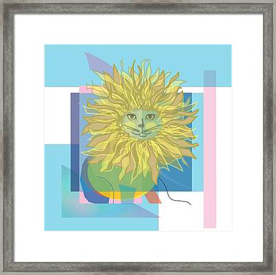 Yellow Cat Framed Print by Susan Nelson