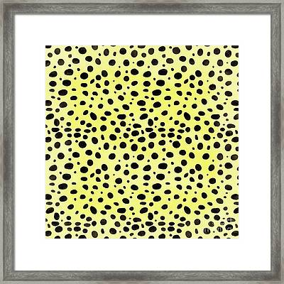 Yellow Cheetah Animal Print Square Framed Print by Edward Fielding