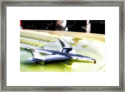 Yellow Chevy  Framed Print