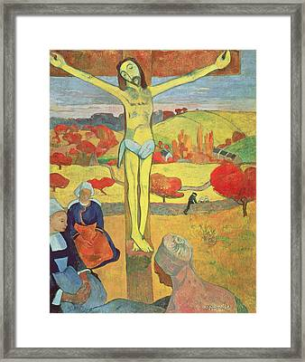 Yellow Christ Framed Print