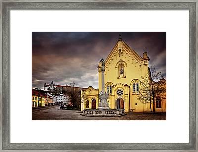 Yellow Church In Bratislava  Framed Print
