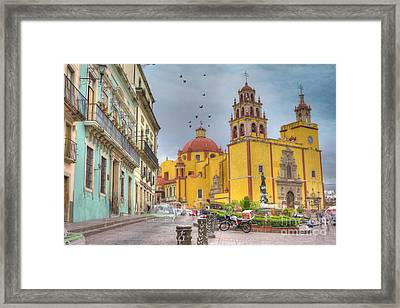 Yellow Church Framed Print by Juli Scalzi