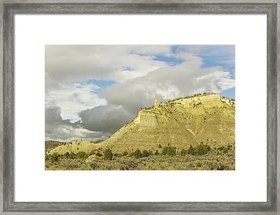 Yellow Cliffs Framed Print