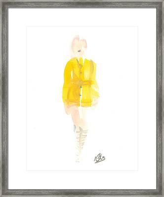 Yellow Coat Framed Print