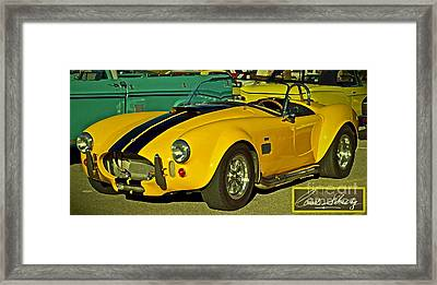 Yellow Cobra Framed Print