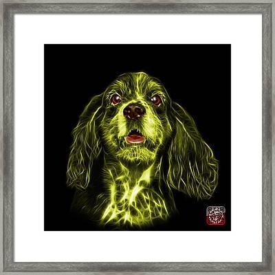 Yellow Cocker Spaniel Pop Art - 8249 - Bb Framed Print