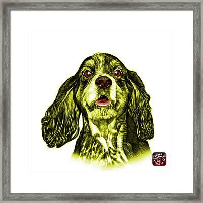 Yellow Cocker Spaniel Pop Art - 8249 - Wb Framed Print