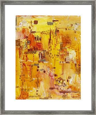 Yellow Conundrum Framed Print by Regina Valluzzi
