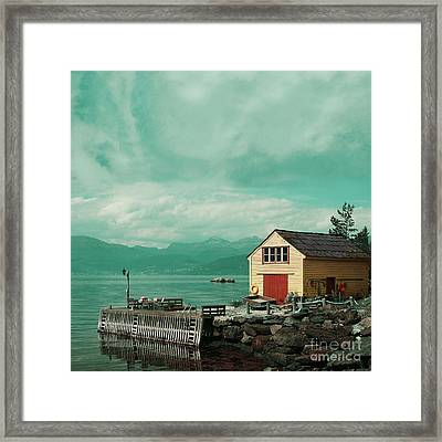 Yellow Cottage Framed Print