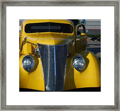 Yellow Coupe Framed Print by William Thomas