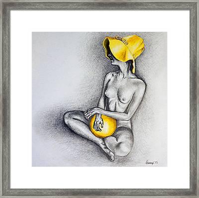 Yellow Framed Print by Courtney Kenny Porto