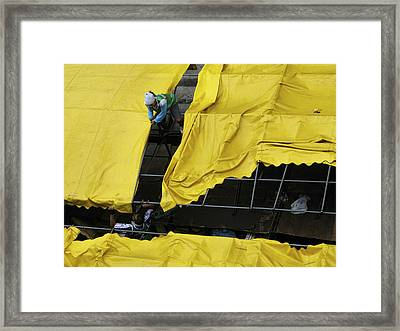 Yellow Cover Framed Print by Joseph Thiery