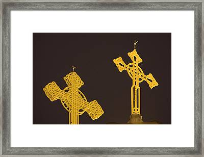 Yellow Crosses Framed Print