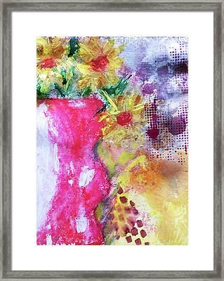 Yellow Daisies Framed Print by Lisa McKinney