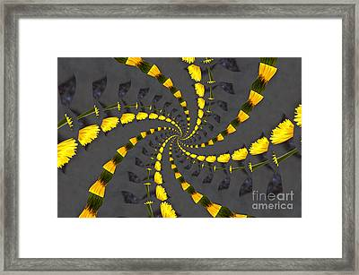 Yellow Daisy Spin Wheel  Framed Print