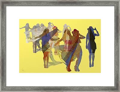 Yellow Dance Framed Print
