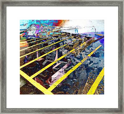 Yellow Framed Print by Dave Kwinter
