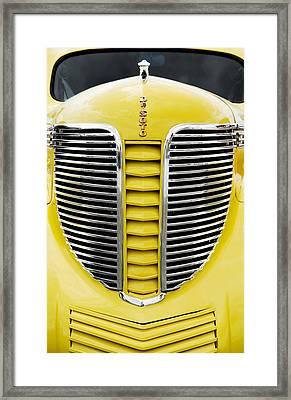 Yellow Desoto Grill Framed Print by Patrick Chuprina