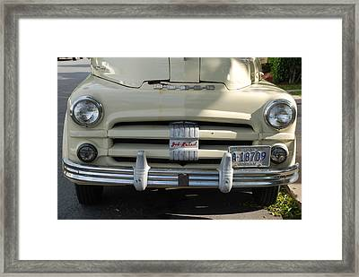 Yellow Dodge Framed Print by Rob Hans