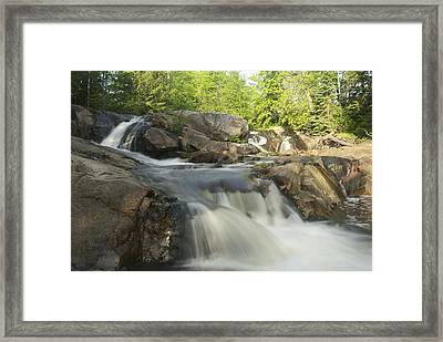 Yellow Dog Falls 3 Framed Print by Michael Peychich