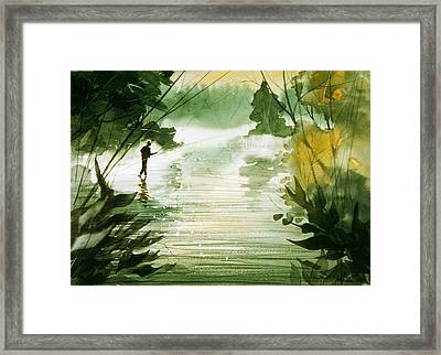 Yellow Dog River Framed Print by Sean Seal