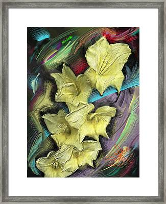 Yellow Framed Print by Donald Pavlica